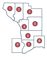 La Crosse Division CountiesBuffaloTrempealeauJacksonLa CrosseMonroeVernonCrawfordRichlandGrantAllamakee, Iowa